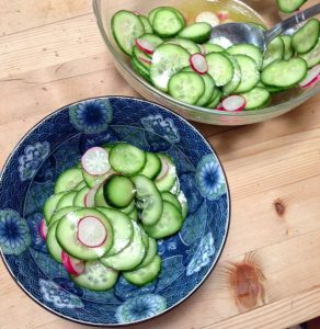 Cucumber Carpaccio from The Fresh 20 Cookbook | Review by Recipe Renovator
