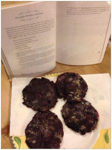Purple Potato Latkes from Gluten-Free & Vegan Holidays | Review by Recipe Renovator