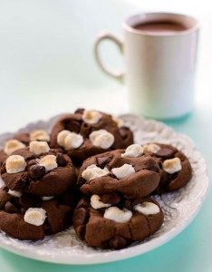 Hot chocolate cookies from Go Dairy Free | Month O' Cookies on Recipe Renovator