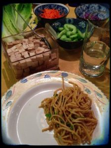 Peanut noodles and vegan tofu salad from Everyday Thai Cooking | Cookbook Review by Recipe Renovator