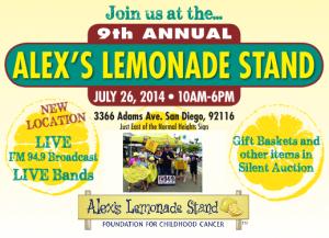 Alex's Lemonade Stand | San Diego July 26, 2014