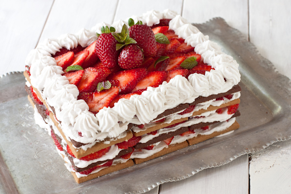 Strawberry Cream Icebox Cake from Migraine Relief Recipes | Gluten-free, dairy-free, migraine-friendly