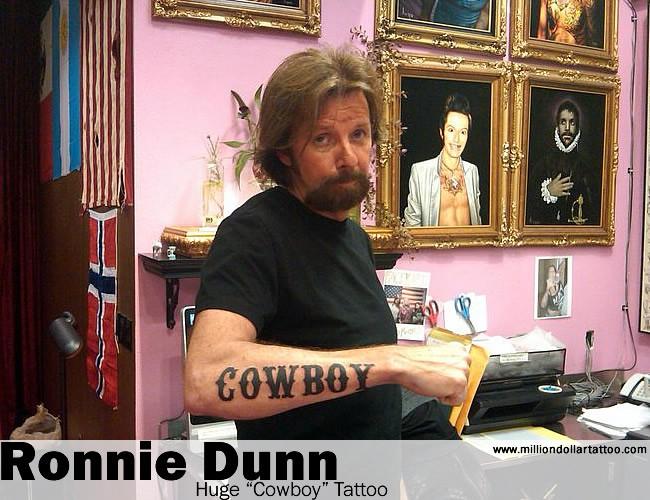 """Ronnie Dunn's Huge """"Cowboy"""" Tattoo"""