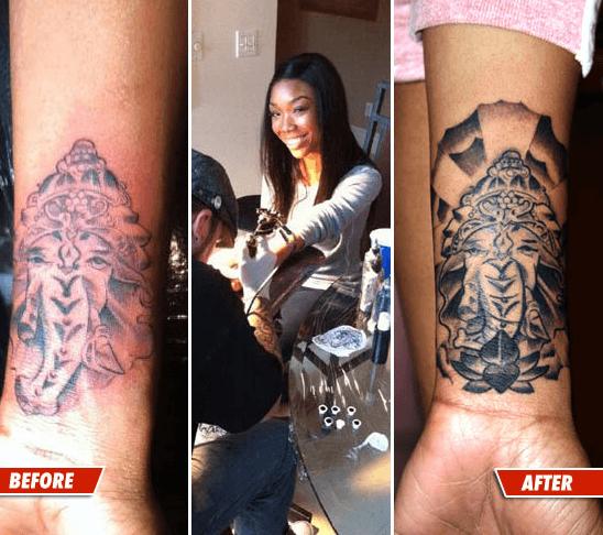 Brandy Had Phallic Tattoo Altered