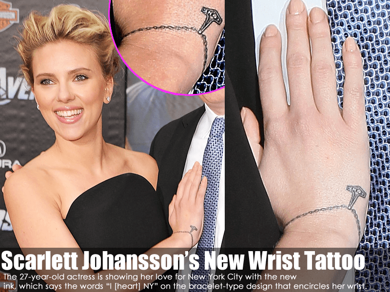 Scarlett Johansson's New Wrist Tattoo