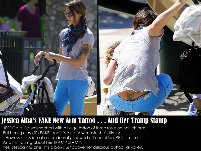 Jessica Alba Tramp Stamp