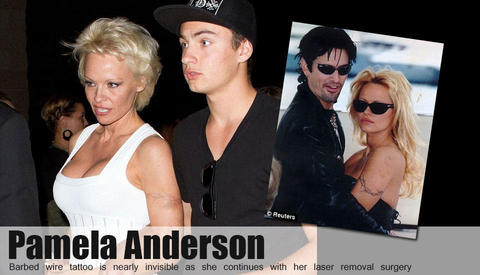 Pamela Anderson's barbed wire tattoo