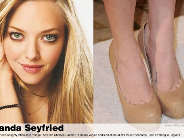 Amanda Seyfried's naughty tattoo