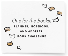 Day Planner, Notebook, and Address Book Challenge