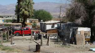 Trailer park in Thermal, California