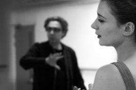As Helya in A Warsaw Melody, with Director Oleg Mirochnikov