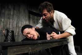 """Lora Dekova as """"Vela"""" in the play """"Vampire"""""""