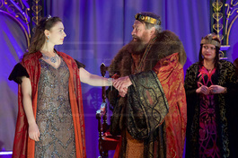 Cordelia with Brian Blessed as King Lear