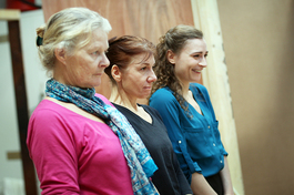 Rehearsals for Fortune's Fool at the Old Vic Theatre