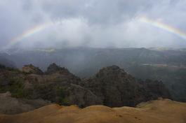 Rainbow in Waimea Canyon