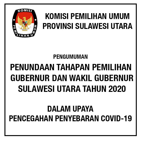 tahapan pemilihan gubernur dan wakil gubernur sulawesi utara 2020