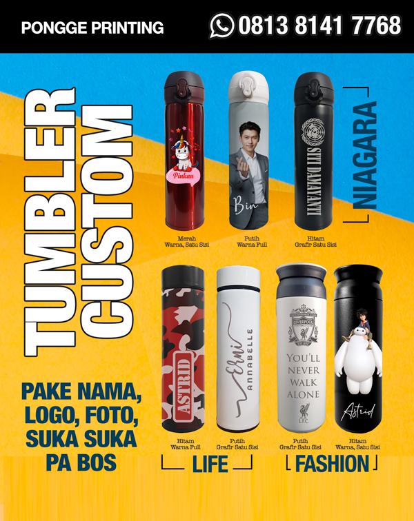 Tumbler Custom  - Pongge Printing