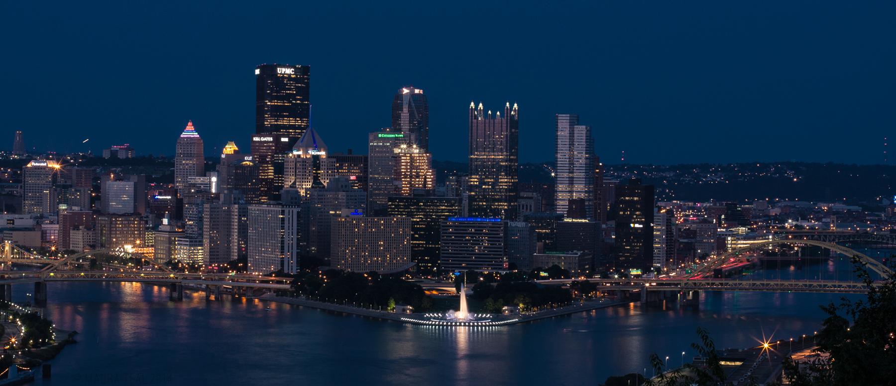 One of my favorites of the year, the city of Pittsburgh at night