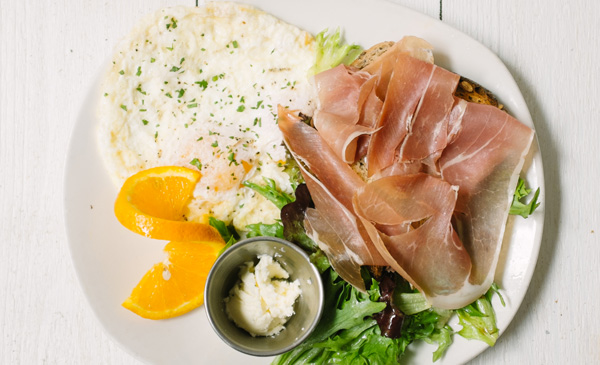 Prosciutto + Eggs