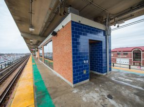 Exterior of Platform Waiting Room at Bellmore Station 01-29-19