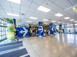 Hicksville Station Lobby 09-06-18 (Photo by MTA Capital Construction/Trent Reeves)