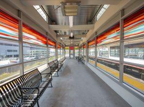 Hicksville Station Platform Waiting Area 09-06-18
