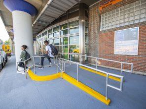 ADA Ramp to Hicksville Station Entrance 09-06-18