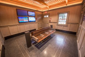 New USB Charging Stations & New Benches - Stony Brook Station Waiting Room - 12-14-18