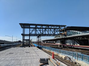 Jamaica Capacity Improvements - Westerly Bridge Steel Erection Connecting New and Existing Platforms 10-23-2018