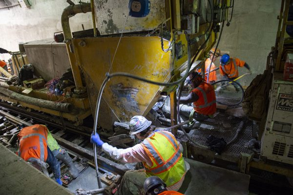 East Side Access - Manhattan Concrete Pour 11-06-18
