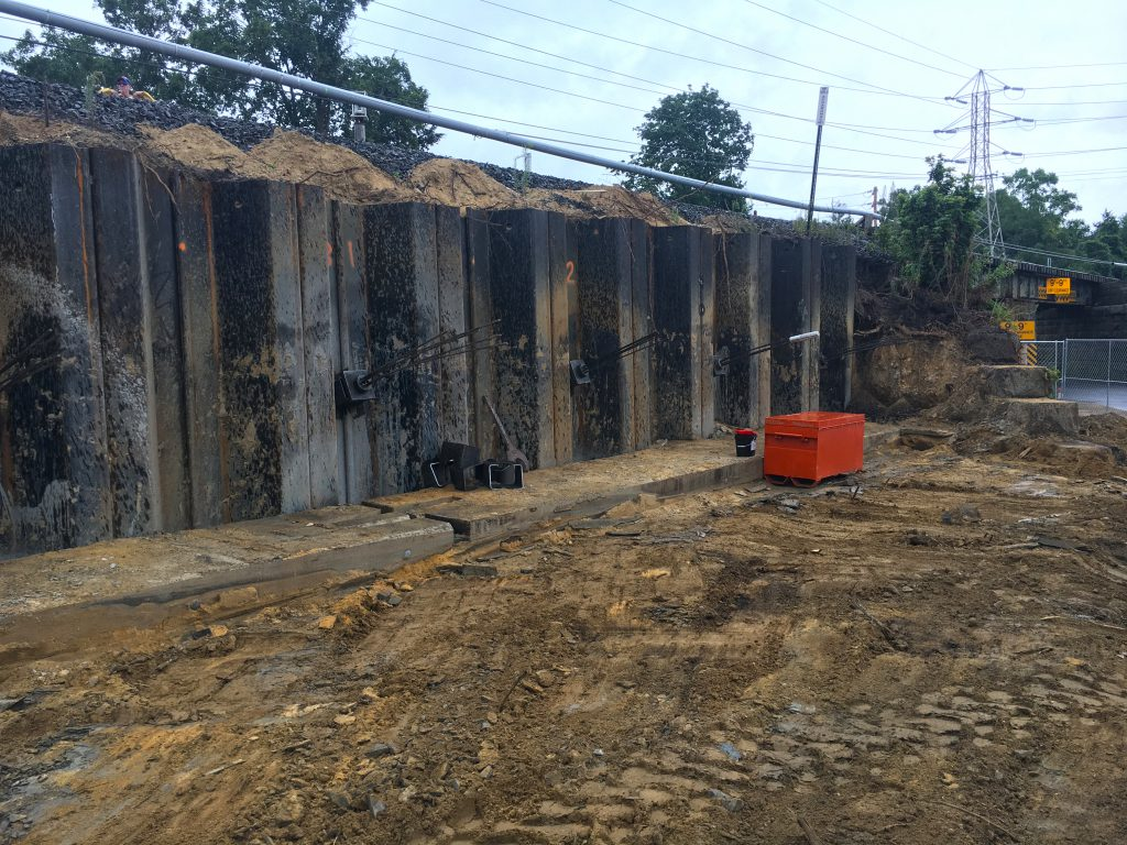 Accabonac Road Bridge - Completed Sheet Pile wall - 08-13-19