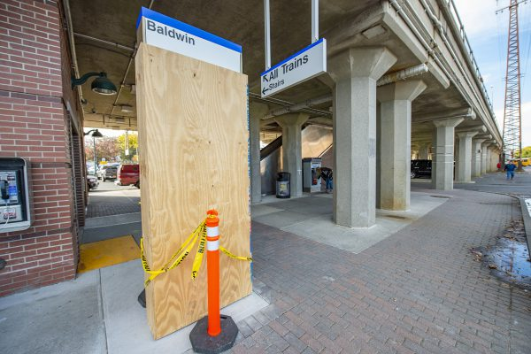 Baldwin Station - Installation of New Information Totems Underway - 11-08-18