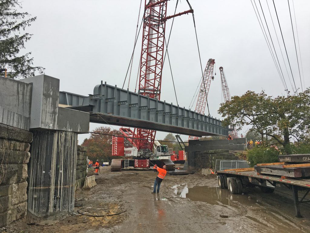 Accabonac Road Bridge - Bridge Superstructure Set in Place - 10-30-19