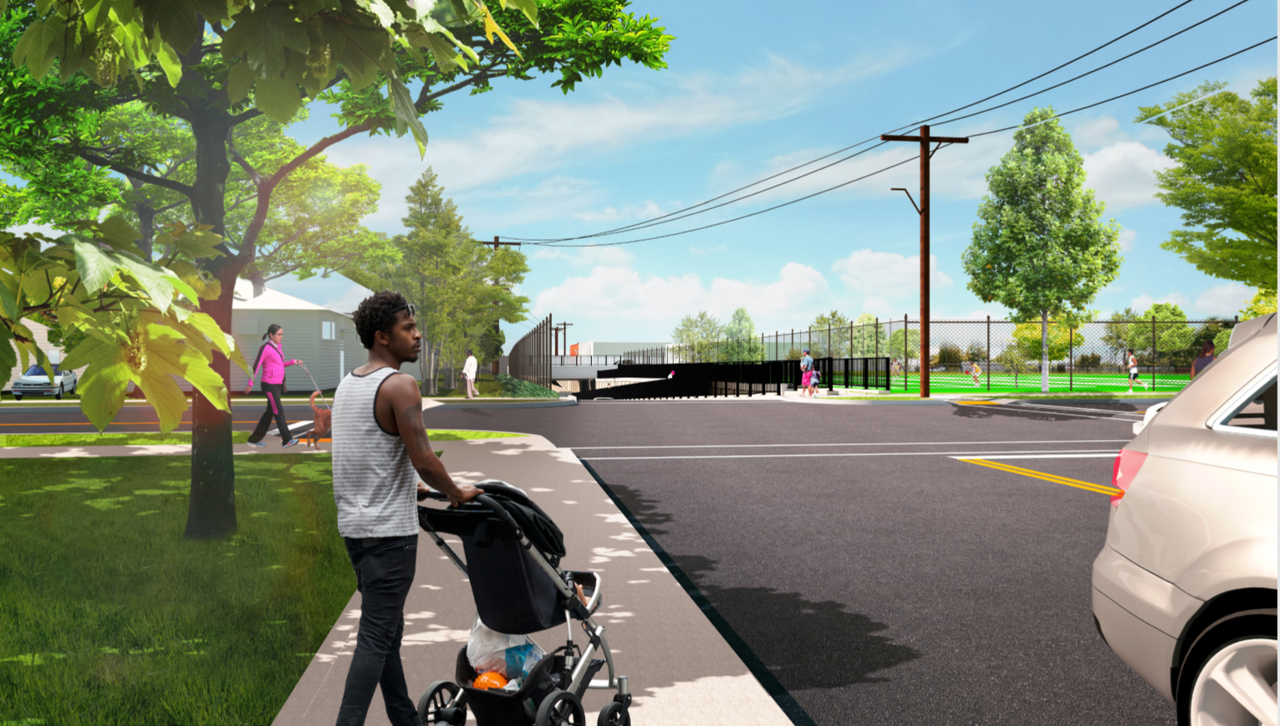 Urban Avenue Grade Crossing Elimination (rendering)