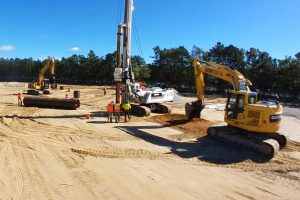 Mid Suffolk Yard - Drilling Caissons for Catinary Lighting System 10-18-18