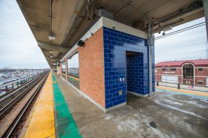 Exterior of Platform Waiting Room at Bellmore Station - 01-29-19