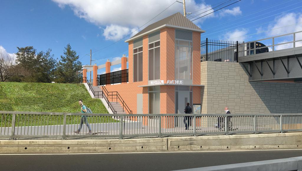Merillon Avenue Station (Rendering)