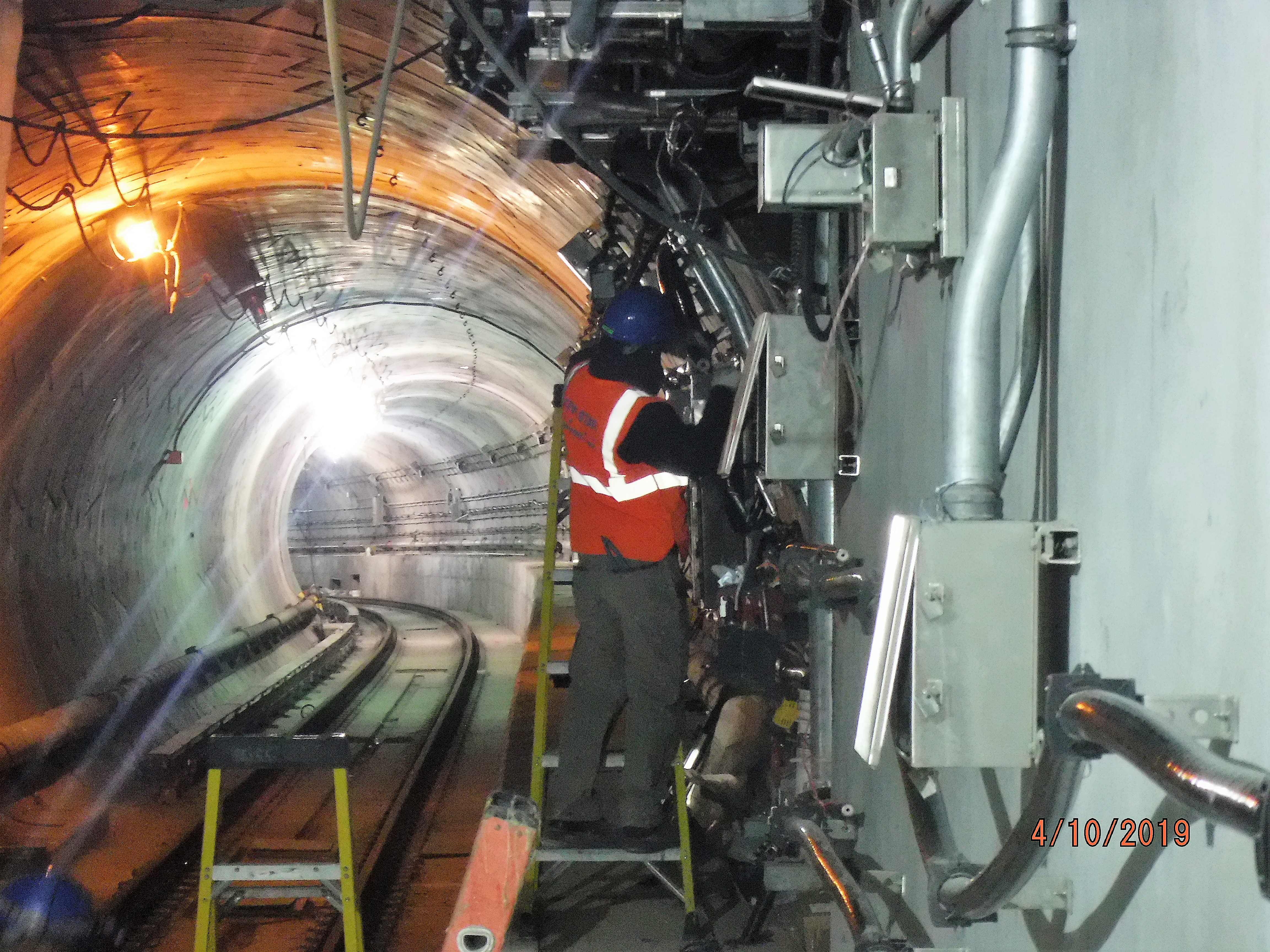 Installation of telecommunication conduit at Tunnel D. 04-12-19