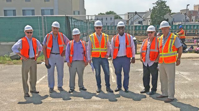 Westbury Officials Tour Project Corridor - 07-10-19
