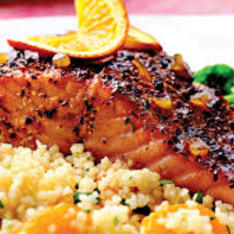 Salmon With Citrus Balsamic Glaze