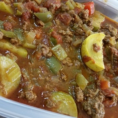 Marcee's Southwest Bean and Beef Chili