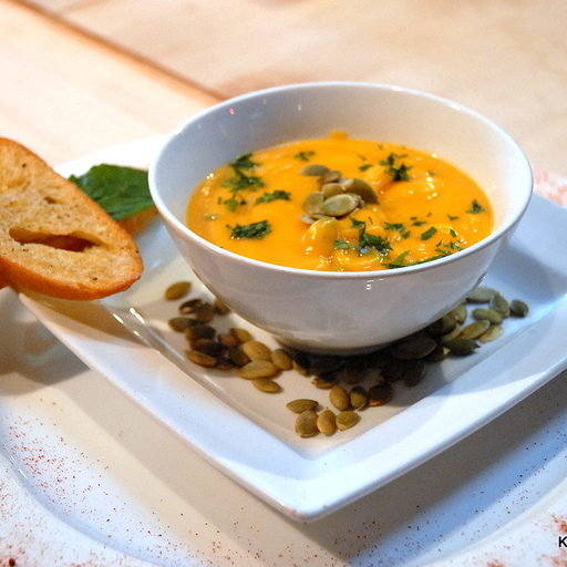 Roasted Butternut Squash and Sage Brown Butter Soup