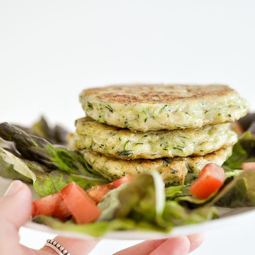 Goat Cheese and Zucchini fritters