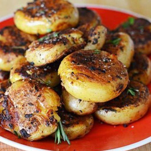 Crispy Outside Creamy Inside Garlic Herb Potatoes