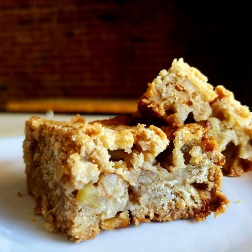 Easy Spiced Apple Pie Oatmeal Bars w Maple Syrup GF and Vegan Option