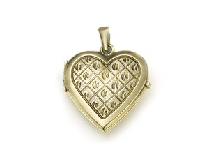Italian Gold Heart Locket