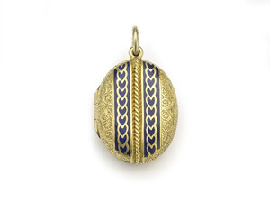 Victorian Gold Enamel Locket