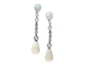 Antique Opal Drop Earrings