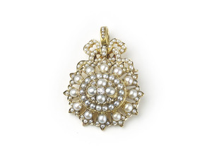 Antique Pearl & Diamond Pendant