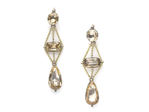 Georgian Topaz Earrings